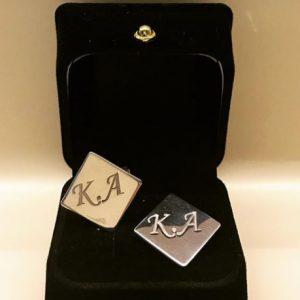 Kişiye Özel Gümüş Kol Düğmesi 869