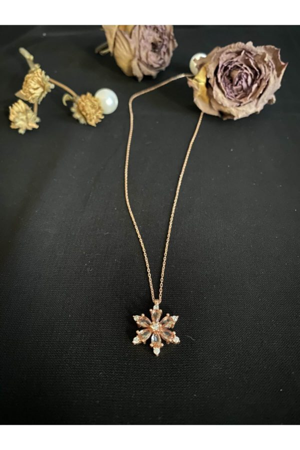 Gümüş Sultanit Taşlı Lotus Çiçeği Kolye